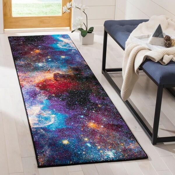 Safavieh Galaxy Contemporary Geometric Purple/ Multi Runner Rug - 2'2 x 8'