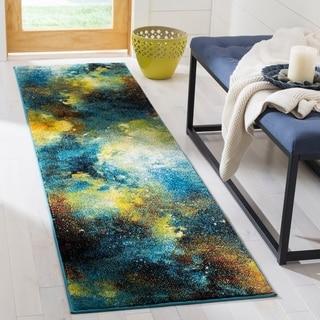 Safavieh Galaxy Contemporary Geometric Blue/ Multi Runner Rug (2'2 x 8')