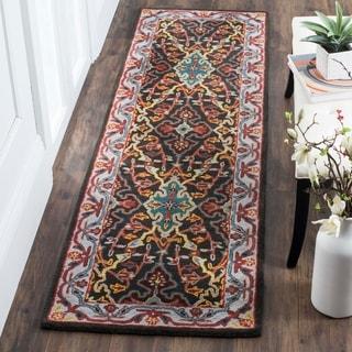 Safavieh Heritage HandWoven Wool Traditional Geometric Charcoal/ Ivory Runner Rug (2'3 x 8')