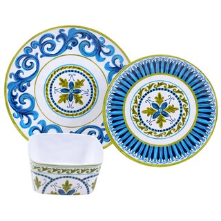 Certified International Blue Grotto Melamine 12-piece Dinnerware Set