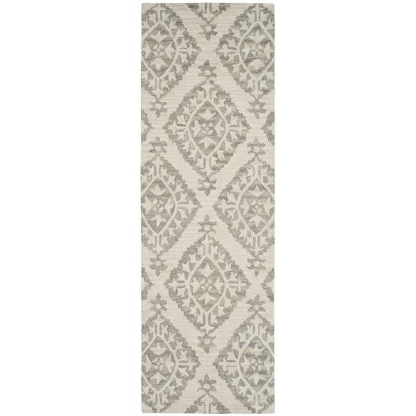Loop Light Grey Bath Rug Reviews: Shop Safavieh MicroLoop HandWoven Wool Transitional