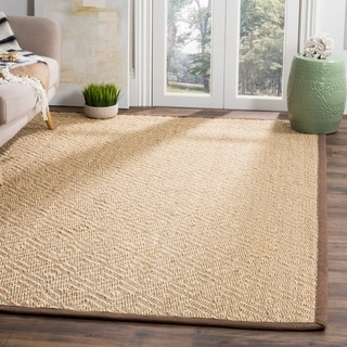 Safavieh Natural Fiber HandWoven Sisal Contemporary Geometric Light Grey/ Grey Runner Rug (2'6 x 8')