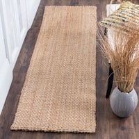 Safavieh Natural Fiber HandWoven Jute Coastal Geometric Natural Runner Rug - 2'3 x 8'