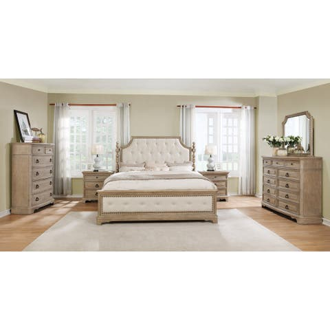 Piraeus 296 6-piece Solid Wood Bedroom Set