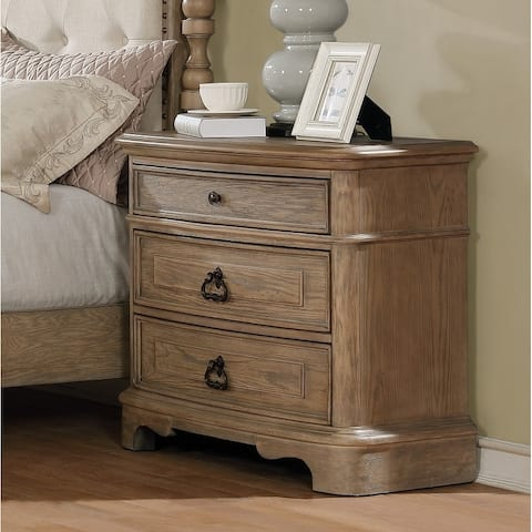 Piraeus 296 White Wash 3-drawer Nightstand