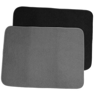Super Absorbent Reversible Microfiber Dish Drying Mat (Pack of 2)