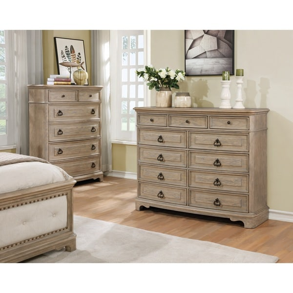 Piraeus 296 11 Drawers White Wash Dresser by Generic
