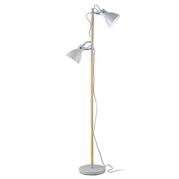 OttLite Avery Grey Metal 2-light Floor Lamp