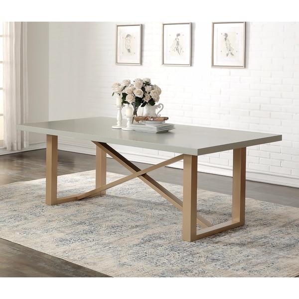 Abbyson Jayden Grey Wood Zen Style Dining Table