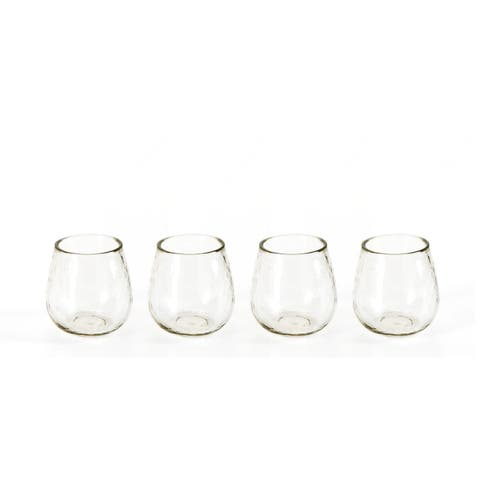 """Garan"" Hammered Glass All Purpose Glasses (Set of 4)"