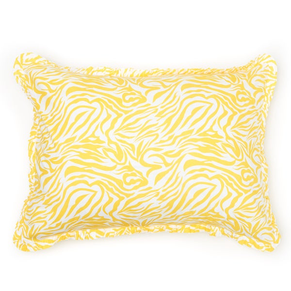 Zabrina Yellow Stripe Sham