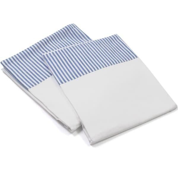 Blue Stripe Pillowcase Set