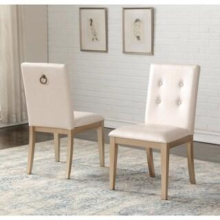 Abbyson Jayden Zen Grey Rubberwood Dining Chair (Set of 2)