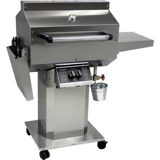 Phoenix Grill SD - Stainless Steel Liquid Propane - Riveted Grill Head On Stainless Steel Pedestal Cart