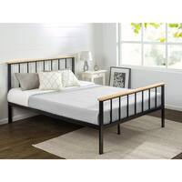 Priage by Zinus Contemporary Metal and Wood Platform Bed