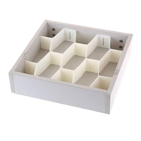Ybmhome Plastic Cellular Partition Drawer Closet Shelf Divider Storage Cabinet Clapboard White 2181 Set of 4