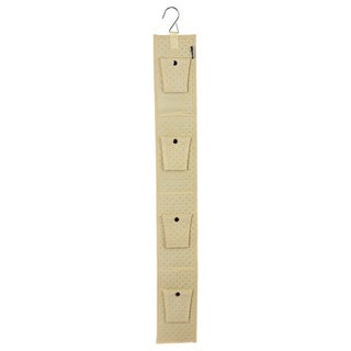 Ybmhome Fabric Hanging Double Sided Hang up Closet Organizer Storage for Purses, 2169  Beige