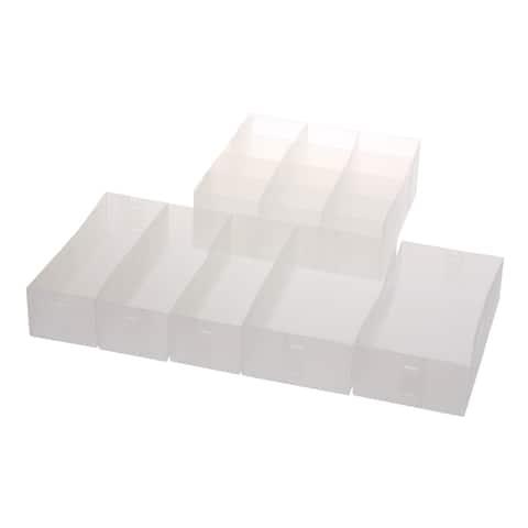 Ybm Home Drawer Divider Organizer, Cube Bin Set of 6)