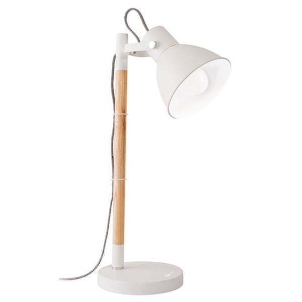 Ottlite Avery White Wood/Metal 40-watt Table Lamp