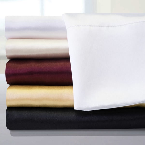 Luxurious 4 Piece Satin Sheet Set (Queen)