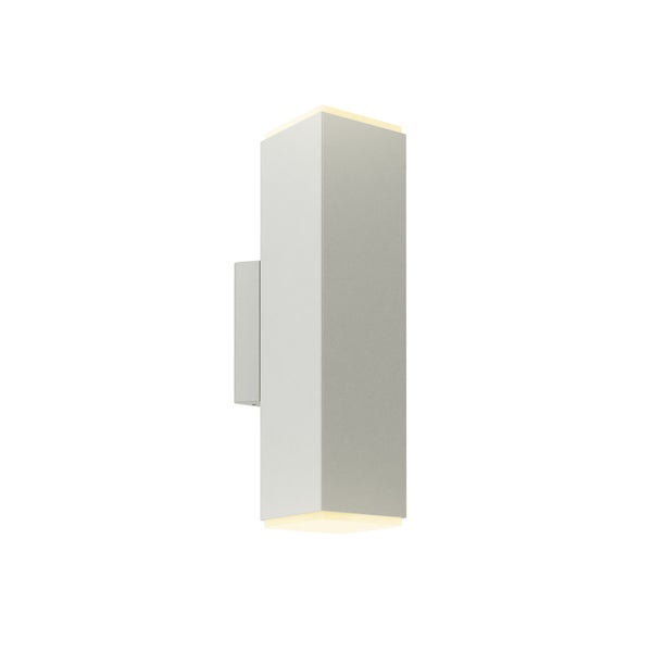Grey Aluminum 4-inch LED Square Cylinder Wall Sconce