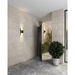 Black Aluminum LED Wall Pack Sconce