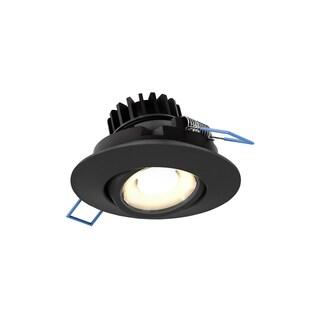 Black Aluminum 3-inch LED Round Gimbal Recessed Light