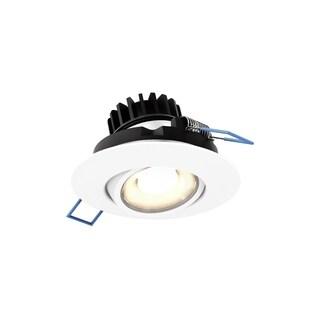 LED Round Gimbal White 3-inch 8W, 3000k, 500 Lumens, 90 CRI Recessed Light