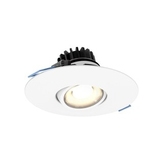 Gimbal Black Aluminum 4-inch Round 8-watt 3000K 500-lumen 90 CRI Recessed LED Light