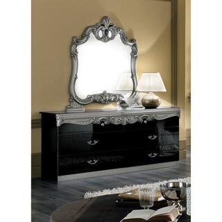 Luca Home Amory Double Dresser and Mirror Set
