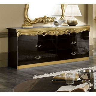 Luca Home Amory Wood Double Dresser