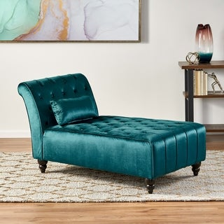 Rubie New Velvet Chaise by Christopher Knight Home : bedroom chaise - Sectionals, Sofas & Couches