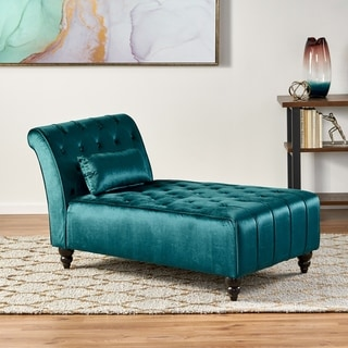 Link to Rubie Velvet Chaise by Christopher Knight Home Similar Items in Living Room Chairs