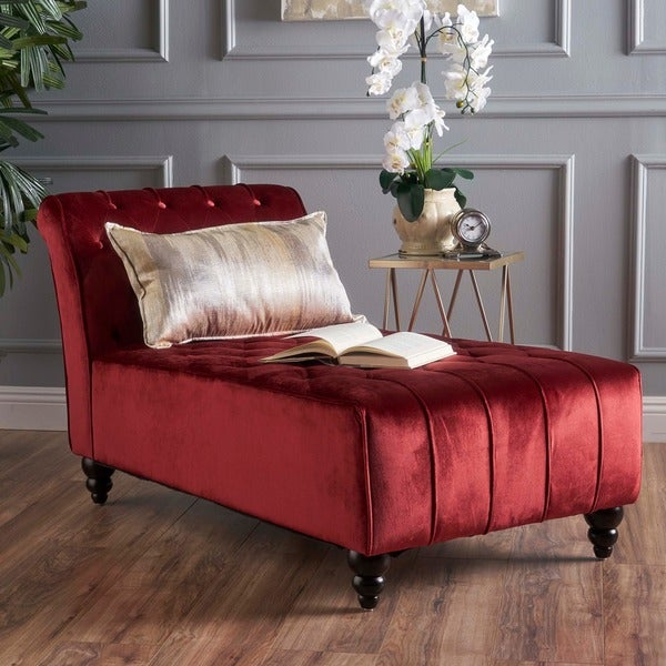 Rubie Velvet Chaise by Christopher Knight Home