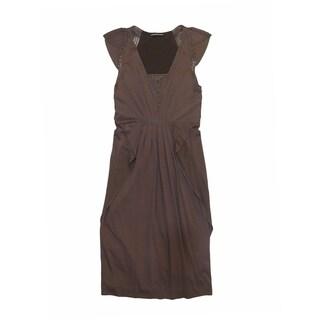 Catherine Deane Women's Brown Silk Dress