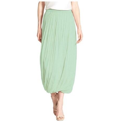 Elie Tahari Green Chiffon Maxi Skirt