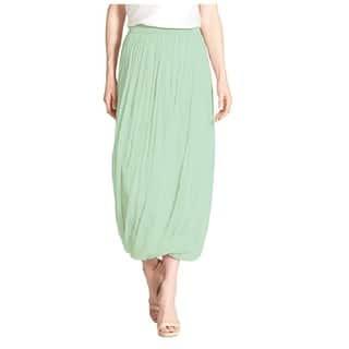 Elie Tahari Green Chiffon Maxi Skirt|https://ak1.ostkcdn.com/images/products/16696627/P23014196.jpg?impolicy=medium