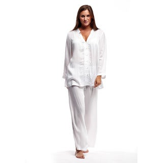 La Cera Women's Long Sleeve Pajama Set
