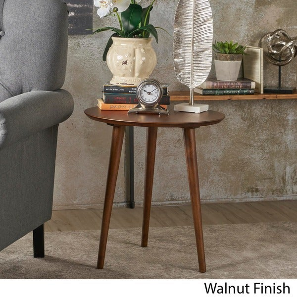 "Evie Wood End Table with Faux Wood Overlay by Christopher Knight Home - 20""L x 20""W x 22""H (As Is Item). Opens flyout."