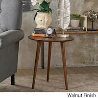 Evie Wood End Table with Faux Wood Overlay by Christopher Knight Home