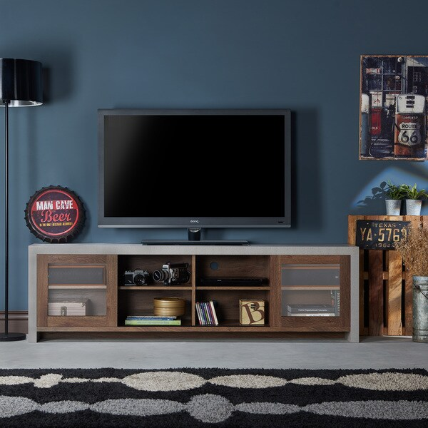 furniture of america haylin industrial cementlike tv stand free shipping today