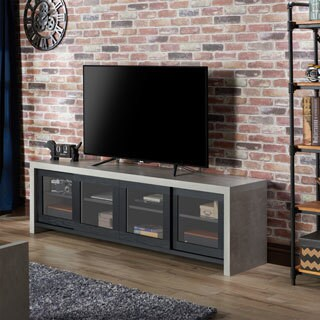 Furniture Of America Haylin Industrial Cement Like Multi Storage TV Stand