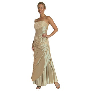 DFI Women's Sequined Long Wrap Gown
