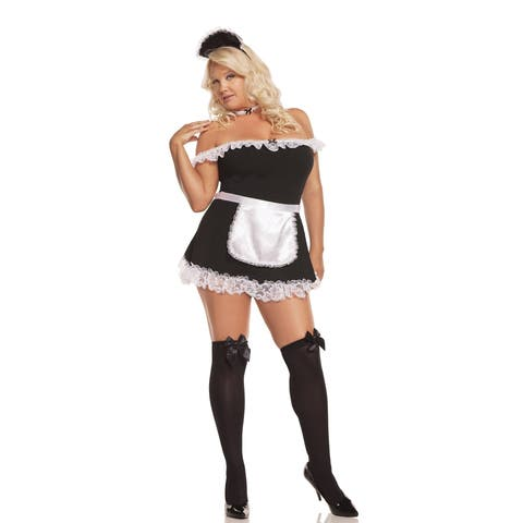 Elegant Moments Plus Size 4-piece Maid Costume