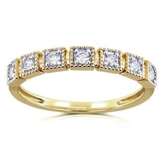 Annello by Kobelli 10k Yellow Gold 1/6ct TDW Diamond Wedding Ring (H-I, I2)