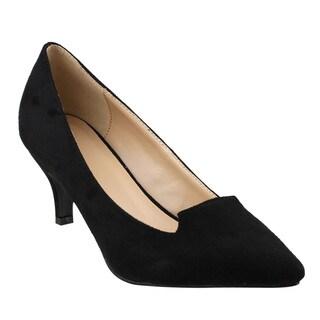 Beston JA04 Women's Low Stiletto Heel Basic Plain Pumps Shoes