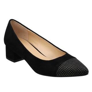 Beston JA07 Women's Chic Chunky Heel Studs Deco Pumps Shoes