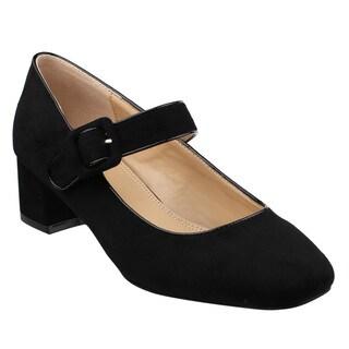 Beston JA08 Women's Low Chunky Heel Mary Jane Pumps Shoes