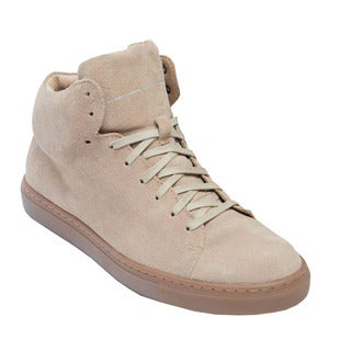 AH75 Unisex Brown Suede High-top Sneakers