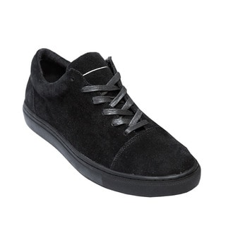 AH72 Men's Black Suede Lace-up Sneakers